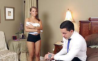 Liza Rowe in Bad Sitter Gets Screwed - TeamSkeet