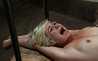 Hot Blond's First Time Being Made To Squirt Totally Helpless, Bound,  Cumming So Much It Hurts - Hog-tied