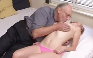 Older dude with beautifull college woman