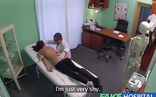 Youthfull girl with mind blowing figure caught on camera getting drilled by doctor