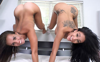 Jamie Valentine & Kelsi Monroe in Two Latinas Give Sloppy Blowjobs - ShareMyBf